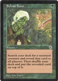 Magic the Gathering Portal 1 Single Sylvan Tutor - NEAR MINT (NM)