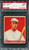 1933 Goudey Baseball #86 Phil Todt PSA 7 (NM) *9542