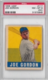 1948 Leaf Baseball Joe Gordon PSA 8(OC) (NM-MT) *0948