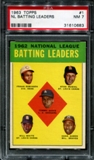 1963 Topps Baseball #1 NL Batting Leaders PSA 7 (NM) *0683
