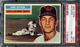 1956 Topps Baseball #303 Jim Dyck PSA 8 (NM-MT) *0380