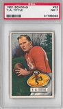 1951 Bowman Football Y.A. Tittle PSA 7 (NM) *8093
