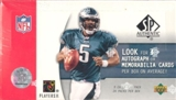 2005 Upper Deck SP Authentic Football Hobby Box