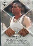 1999/00 Upper Deck Black Diamond A Piece of History Double #SA Shareef Abdur-Rahim