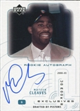 2000-01 Upper Deck Ovation UD Authentics Rookie Exclusives #MC Mateen Cleaves