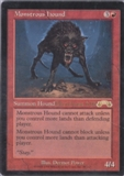 Magic the Gathering Exodus Single Monstrous Hound UNPLAYED (NM/MT)