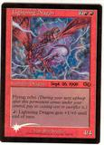 Magic the Gathering Urza's Saga Single Lightning Dragon (Prerelease) FOIL - SLIGHT PLAY