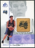 2000/01 Upper Deck SP Game Floor Authentic Floor #MM Mike Miller