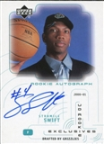 2000/01 Upper Deck SPx Authentics Rookie Exclusives Auto #SS Stromile Swift