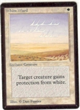 Magic the Gathering Beta Single White Ward LIGHT PLAY (NM)