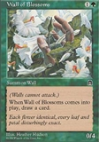 Magic the Gathering Stronghold Single Wall of Blossoms LIGHT PLAY (NM)