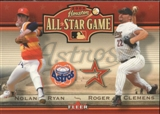 2004 Astros Fanfest #9 Nolan Ryan Roger Clemens Fleer Houston All Star Game