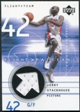 2001/02 Upper Deck Flight Team Flight Patterns #JS Jerry Stackhouse