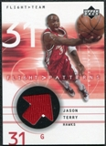 2001/02 Upper Deck Flight Team Flight Patterns #JT Jason Terry