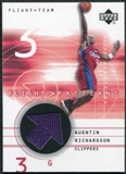 2001/02 Upper Deck Flight Team Flight Patterns #QR Quentin Richardson