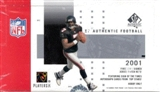 2001 Upper Deck SP Authentic Football Hobby Box