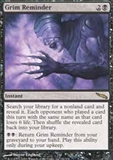 Magic the Gathering Mirrodin Single Grim Reminder UNPLAYED (NM/MT)