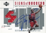 2002/03 Upper Deck Championship Drive Signs of Success JSY Auto #JWA Jay Williams