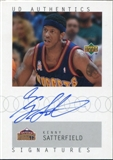2002/03 Upper Deck UD Authentics Signatures #KS Kenny Satterfield Autograph