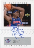 2002/03 Upper Deck UD Authentics Signatures #RW Rodney White