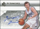 2003/04 Upper Deck SP Authentic Signatures #GGA Gordan Giricek Autograph