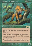 Magic the Gathering Exodus Single Mirri, Cat Warrior - SLIGHT PLAY (SP)