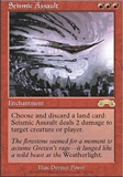 Magic the Gathering Exodus Single Seismic Assault - SLIGHT PLAY (SP)