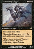 Magic the Gathering Invasion Single Marauding Knight - NEAR MINT (NM)