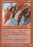 Magic the Gathering Legions Single Magma Sliver - SLIGHT PLAY (SP)