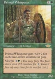 Magic the Gathering Legions Single Primal Whisperer UNPLAYED (NM/MT)
