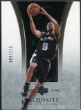 2004/05 Upper Deck Exquisite Collection #36 Tony Parker /225
