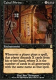 Magic the Gathering Odyssey Singles 4x Cabal Shrine UNPLAYED (NM/MT)