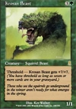 Magic the Gathering Odyssey Single Krosan Beast - NEAR MINT (NM)