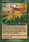 Magic the Gathering Odyssey Single New Frontiers - NEAR MINT (NM)