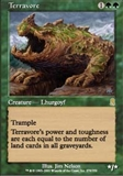 Magic the Gathering Odyssey Single Terravore - SLIGHT PLAY (SP)