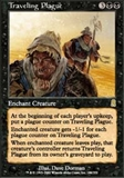 Magic the Gathering Odyssey Singles 4x Traveling Plague UNPLAYED (NM/MT)