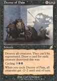Magic the Gathering Scourge Single Decree of Pain MODERATE PLAY (VG/EX)