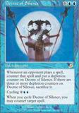 Magic the Gathering Scourge Single Decree of Silence - NEAR MINT (NM)