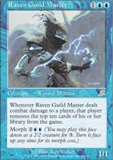 Magic the Gathering Scourge Single Raven Guild Master - MODERATE PLAY (MP)