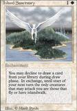 Magic the Gathering 3rd Ed (Revised) Single Island Sanctuary - SLIGHT PLAY (SP)