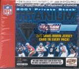 2001 Pacific Private Stock Titanium Postseason Football Hobby Box