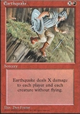 Magic the Gathering 4th Edition Single Earthquake UNPLAYED (NM/MT)