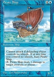 Magic the Gathering 4th Edition Single Pirate Ship UNPLAYED (NM/MT)