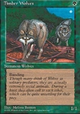 Magic the Gathering 4th Edition Single Timber Wolves UNPLAYED (NM/MT)