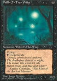 Magic the Gathering 4th Edition Single Will-o'-the-Wisp MODERATE PLAY (VG/EX)
