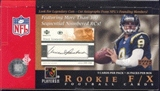 2001 Upper Deck Rookie F/X Football Hobby Box
