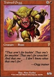 Magic the Gathering 7th Edition Single Trained Orgg UNPLAYED (NM/MT)