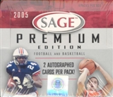 2005 Sage Premium Football & Basketball Hobby Box