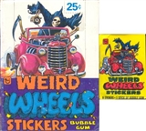 Weird Wheels Stickers Wax Box (1980 Topps)