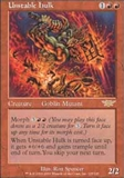 Magic the Gathering Legions Single Unstable Hulk UNPLAYED (NM/MT)